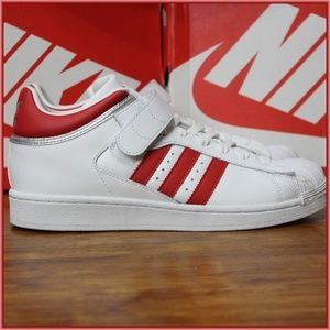 adidas Originals Pro Shell Toe Mid White Red 10.5